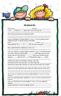 Family Day Care Parent Handbook Template by All About Me Form