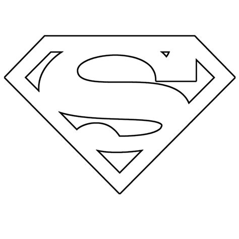 Superman Logo Template printable superman logo cliparts co