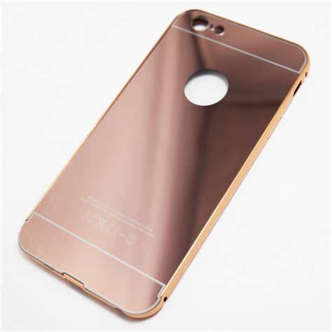 Casing Rosegold Rubber Mirror Iphone X gold iphone 6 plus 6s plus reflective mirror