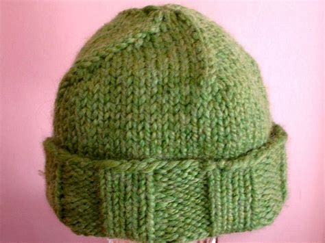knit hat with brim pattern free free pattern easy roll brim knit hat knitting needles