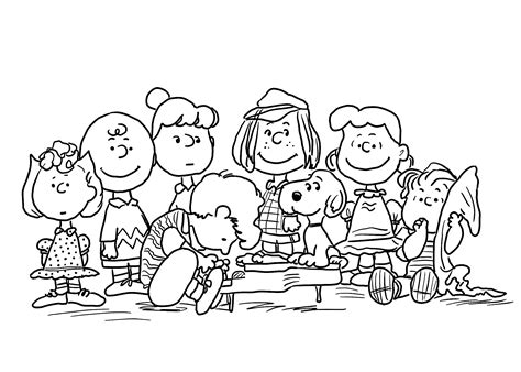 brown thanksgiving coloring pages snoopy coloring pages coloringsuite
