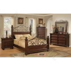 Wrought Iron Bedroom Sets wood and metal bedroom set