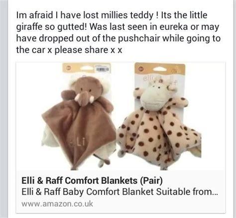 giraffe comfort blanket lost on 06 08 2014 eureka halifax please help find raff