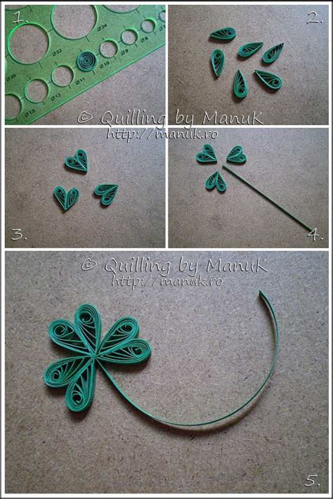 tutorial for paper quilling quilled white clover leaf tutorial quilling tutorials