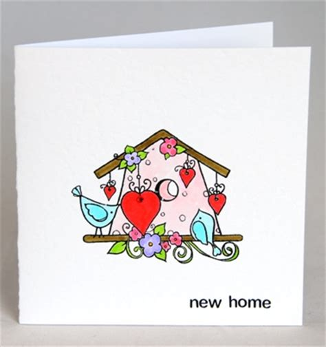 Handmade New Home Cards - a handmade card for a new home handmade by helen