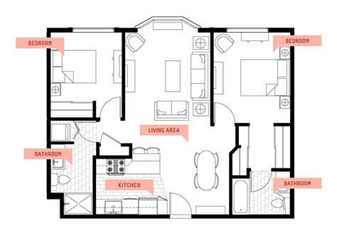 Floor Plan 4 Bedroom Bungalow b the cove waikiki