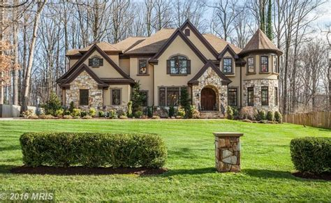 Rec Room Floor Plans by 1 9 Million Stone Amp Stucco Mansion In Great Falls Va