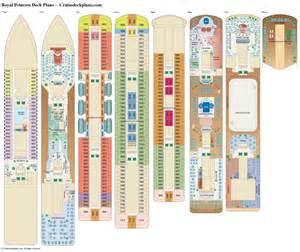 crown princess floor plan royal princess deck plans cabin diagrams pictures