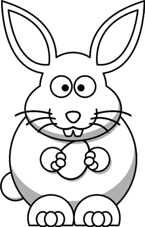 Black And White Rabbit Clipart