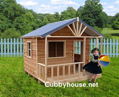 plans for cubby houses snow gum cubby house australian made backyard playground equipment diy kits