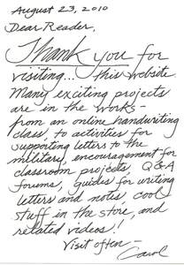 Thank You Letter Handwritten Best Photos Of Sle Thank You Handwritten Card Thank You Notes After