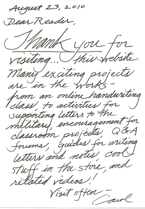 thank you letter after typed or handwritten thank you letter after handwritten sle 28 images the