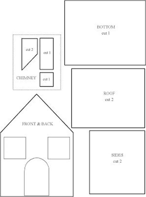 gingerbread house template printable a4 29 best miniature paper houses 2 images on pinterest