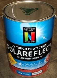 acrylic paint nippon 10l of nippon paint solareflect acrylic low sheen mid