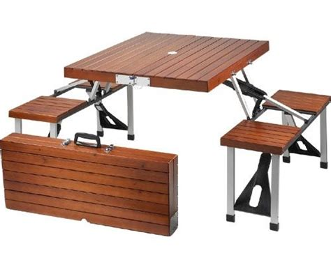 fold up picnic bench furniture fold up picnic table and chairs set was sold