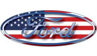 Ford Stickers Ford Oval Emblem American Flag Usa Car Wall Window
