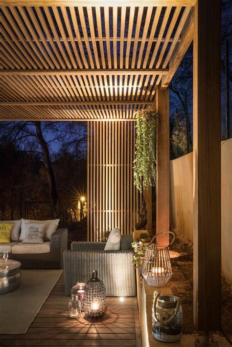 pergola bois exotique amenagement de terrasse en bois