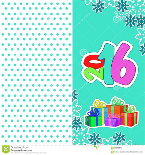 new year 2016 cards australia cards new year 2016 stock vector image 61970470