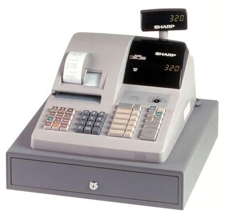 small business cash drawer cash register er a320 sharp register drexel business