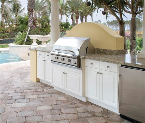 Polymer Cabinets For Outdoor Kitchens Naturekast Outdoor Kitchen Cabinetry Uses Pvc Covered In Resin Woodworking Network