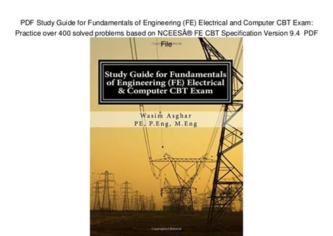 study guide  fundamentals  engineering fe electrical