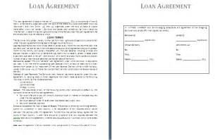 Cash Loan Agreement Template Preview