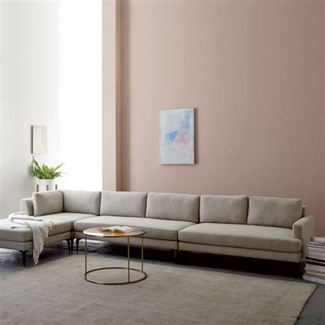 west elm sectional andes 4 piece sectional west elm