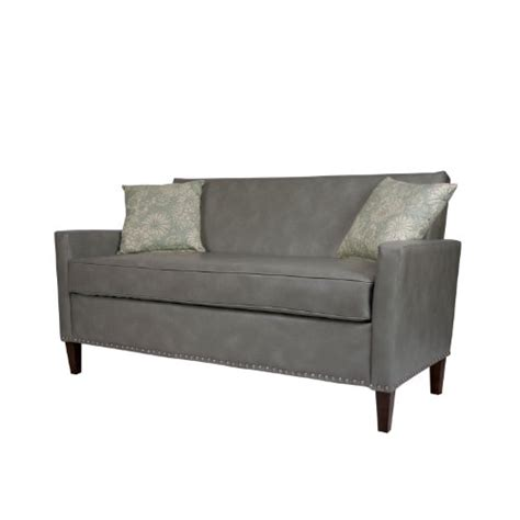 angelo home sutton sofa renu leather vintage dove gray
