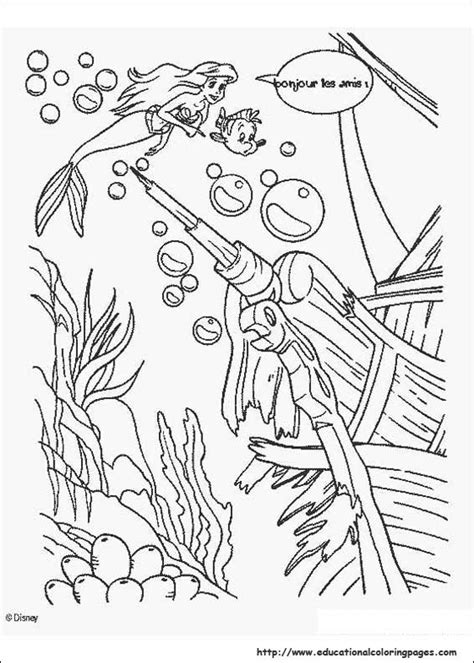 mermaid coloring pages preschool the little mermaid coloring sheets educational fun kids