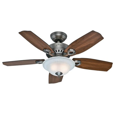 google home ceiling fan hunter gunnar 54 in indoor outdoor matte silver ceiling