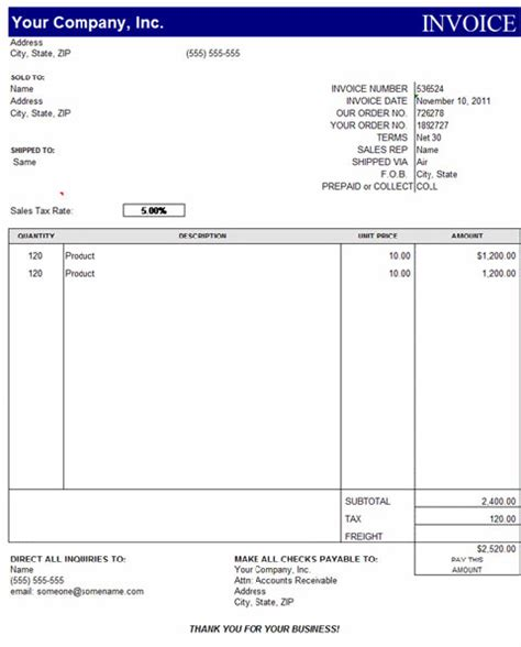 excel template for invoice invoice template excel free best business template