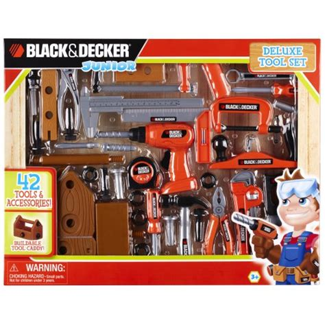 black and decker tool set black and decker deluxe tool set with toolbox new ebay