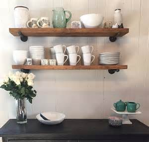 restaurant wall shelving industrial 8 floating shelf with pipe brackets