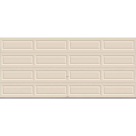 Non Insulated Garage Doors Clopay Classic Collection 16 Ft X 7 Ft Non Insulated Solid Almond Garage Door Hdbl Al Sol
