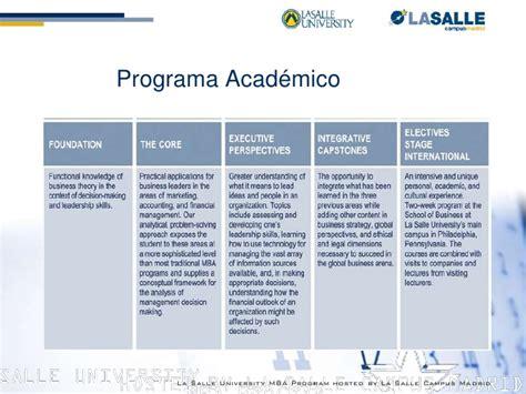 Mba Marketing Programs Philadelphia by Presentaci 243 N Mba Philadelphia La Salle Igs Madrid Sep10