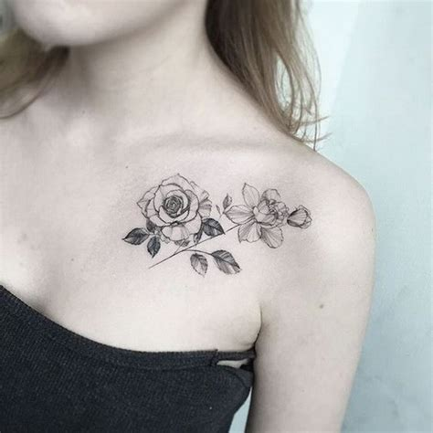 rose collar bone tattoo 50 pretty flower ideas for creative juice