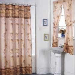 desert palm shower curtain set and 4 window set