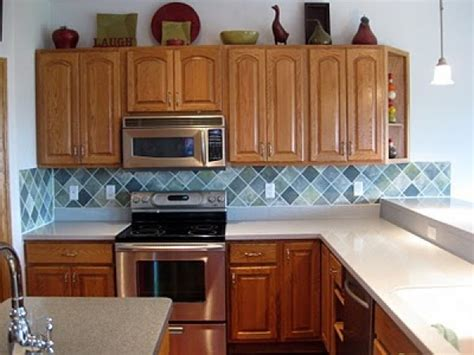 Painted Kitchen Backsplash by Remodelaholic Faux Painted Tile Backsplash