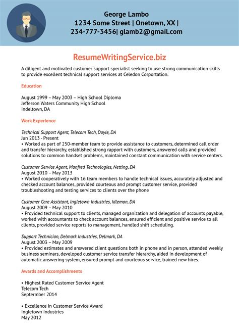 technical resume writing service technical support resume sle