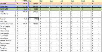 bookkeeping software for van driver tax return spreadsheet