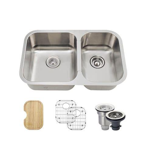28 Kitchen Sink Mr Direct All In One Undermount Stainless Steel 28 In Left Basin Kitchen Sink 530l Ens