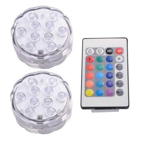 Submersible Light Fixtures Ir Remote Smd5050 Rgb Submersible Led Lights Aaa Battery Operated Ld842 Ebay