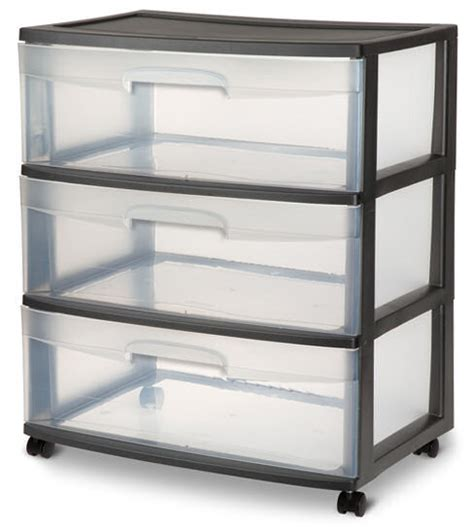 sterilite 3 drawer wide cart dimensions sterilite 2930 wide 3 drawer cart