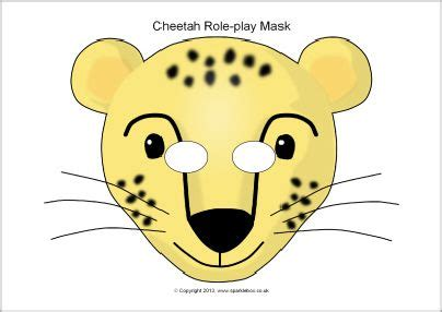 printable animal role play masks this website has tons of free printable masks cheetah role