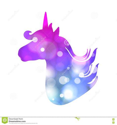 imagenes de unicornios a color remiendo colorido con la silueta del unicornio colores