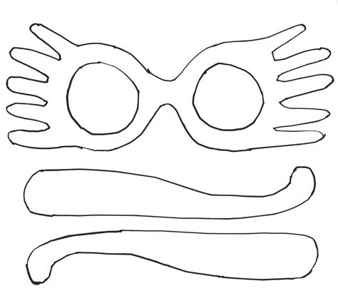 color templates free coloring pages of sunglasses template