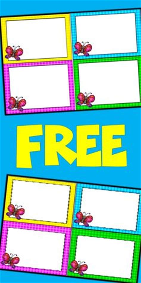 blank flash card templates printable flash cards pdf