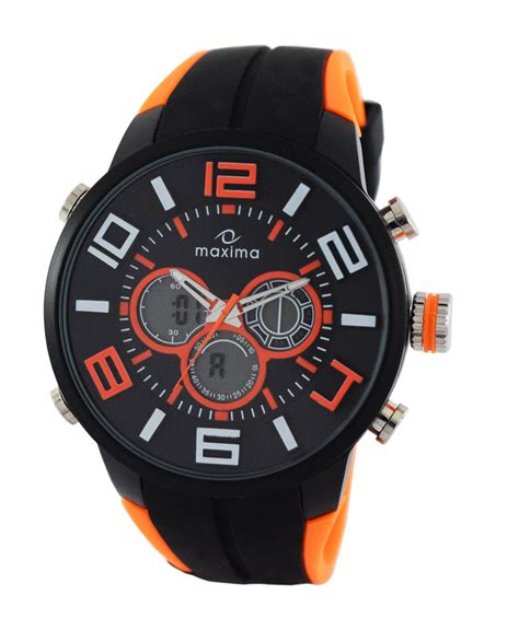 maxima black analogue digital watches 36152ppan for prices