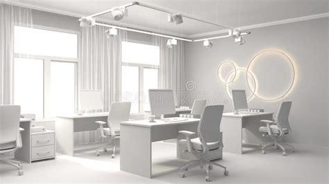 dell ufficio interno dell ufficio illustrazione 3d illustrazione di