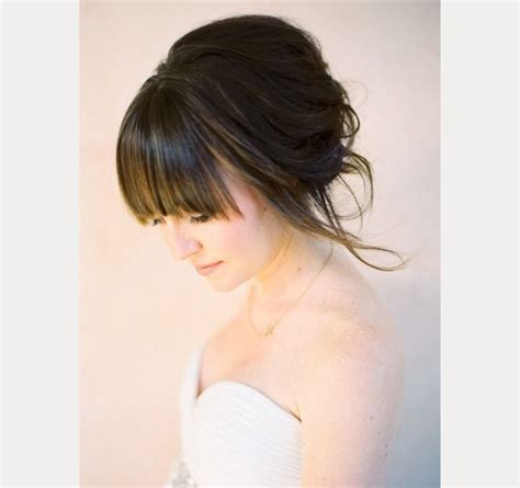 Wedding Hairstyles With Bangs by 40 Beautiful Brides With Bangs Mon Cheri Bridals